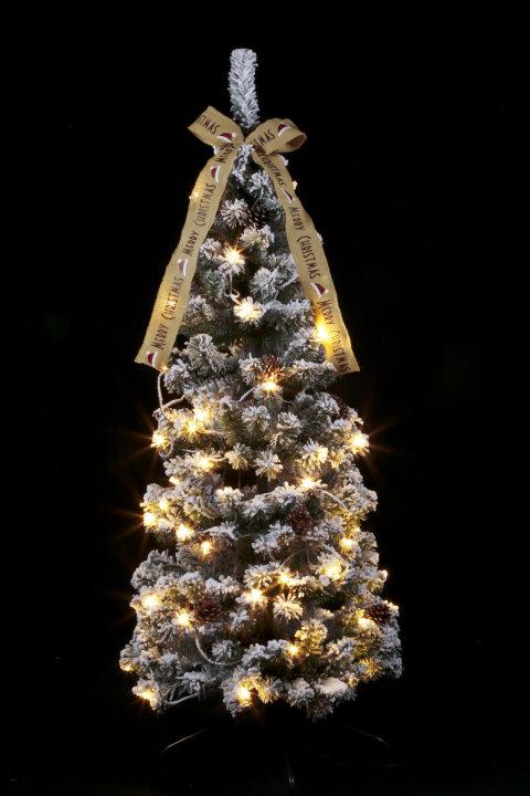 ★クリスマスイルミネーション★クリスマスフォールディングツリー150cm 枝の雪が幻想的です!