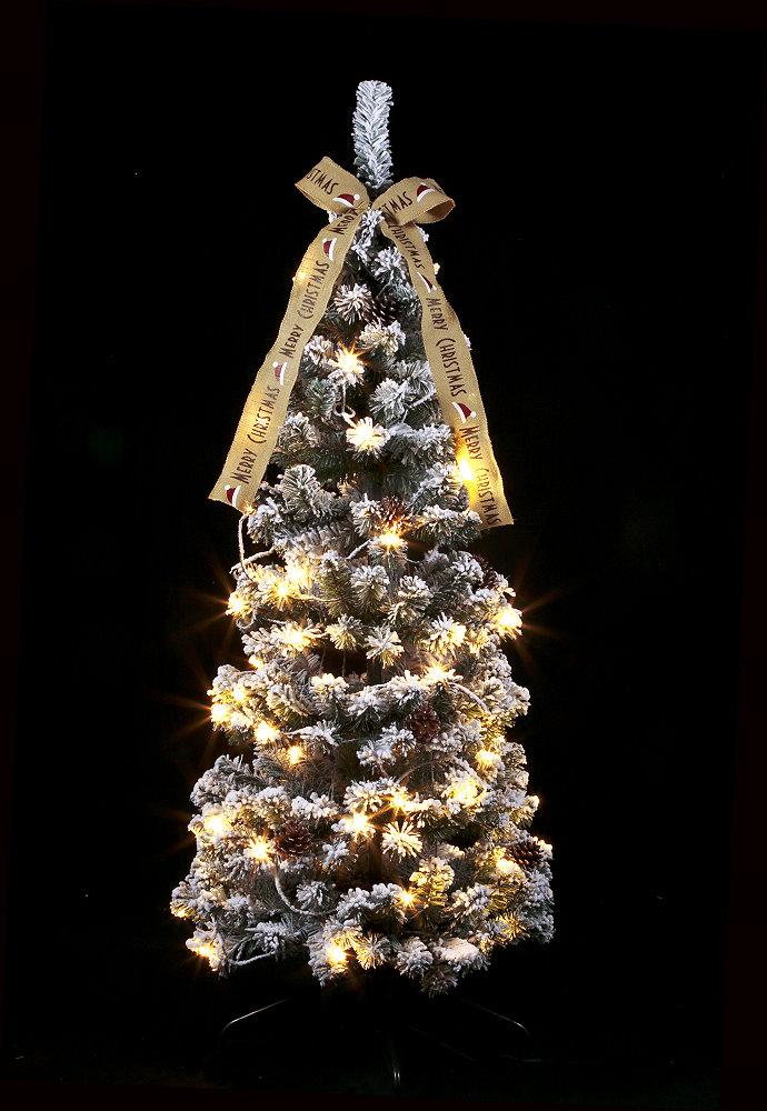 クリスマスイルミネーションフォールディングスノーツリー180cm