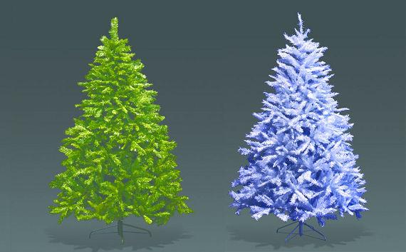 ★クリスマスイルミネーション★ビッグヌードツリー5m(色:グリーン、ホワイト)