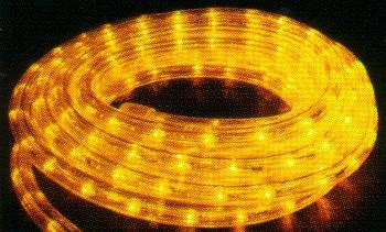★クリスマスイルミネーション★LEDロープライト 電球色10.5m(常時点灯)