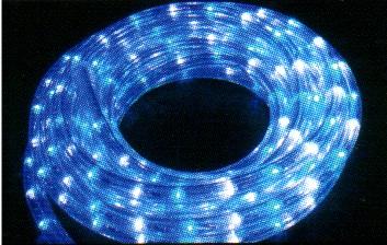 ★クリスマスイルミネーション★LEDロープライト ホワイト&ブルー21m(常時点灯)