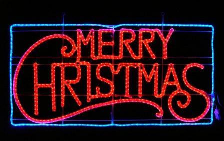 ★クリスマスイルミネーション★LEDビッグサイズメリークリスマス これがなくちゃクリスマスは始まらないし終わらない!