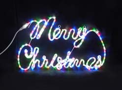 ★クリスマスイルミネーション★クリスマスの定番!  LEDチューブライトメリークリスマスミックスカラー