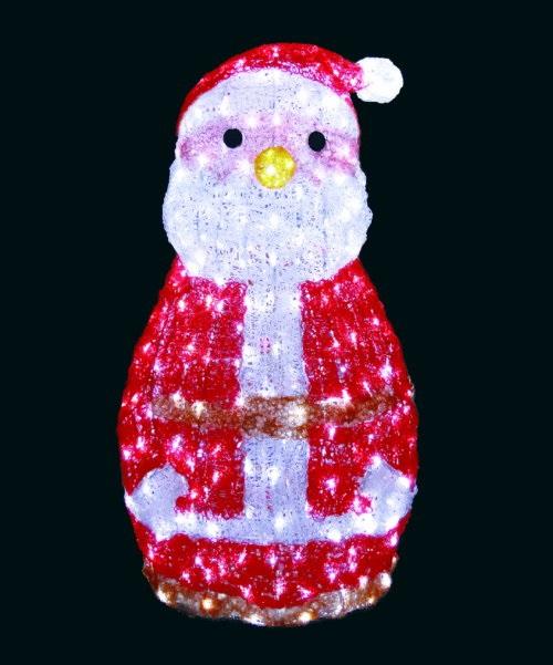 ★クリスマスイルミネーション★LEDクリスタルグロー ファンシーサンタ