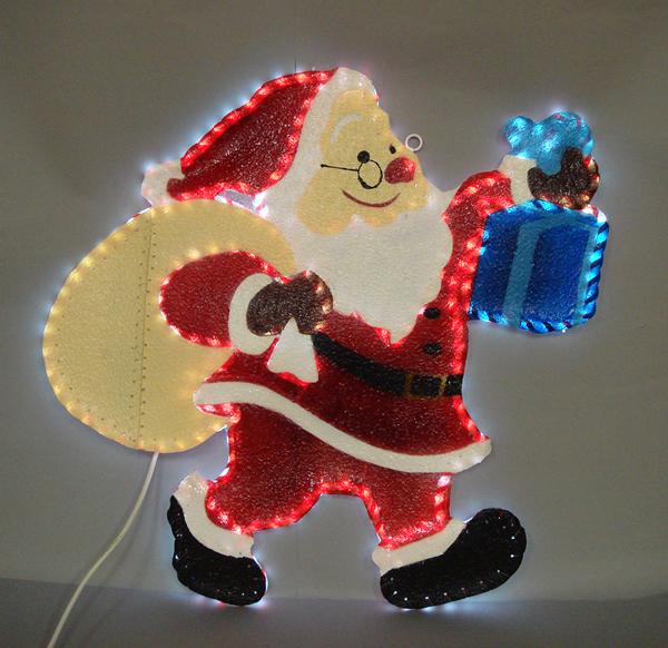 ★クリスマスイルミネーションライト★LEDギフトサンタ
