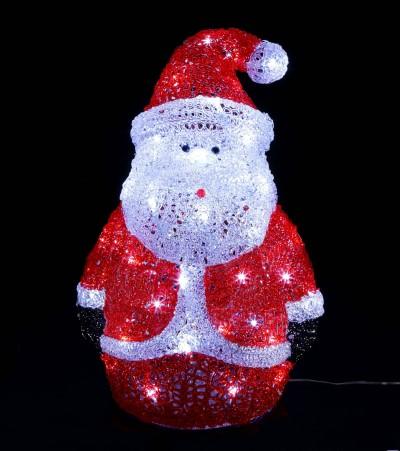 ★クリスマスイルミネーション★ クリスタルグローライトサンタ(L)
