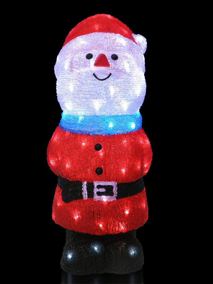 ★クリスマスイルミネーション★LEDクリスタルモチーフ ハッピーサンタ にっこにこー