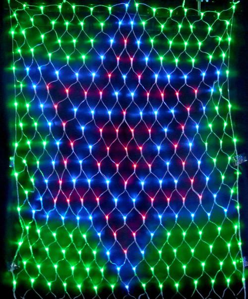 ★クリスマスイルミネーション★スターネットライト LED247球 コントローラー付き