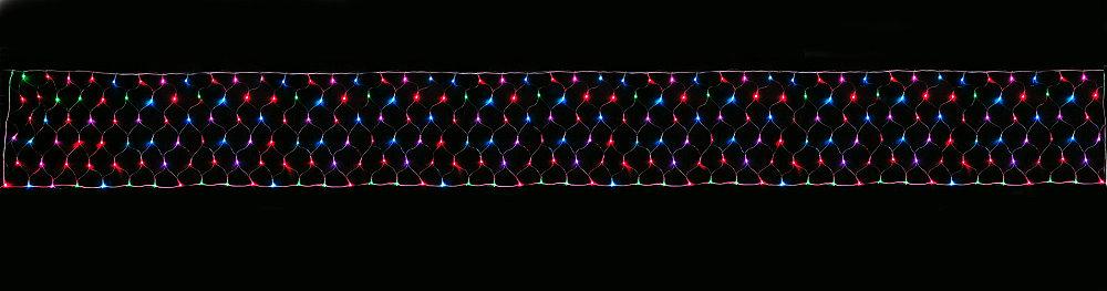 ★クリスマスイルミネーション★LEDロングネットライト コントロールマルチ