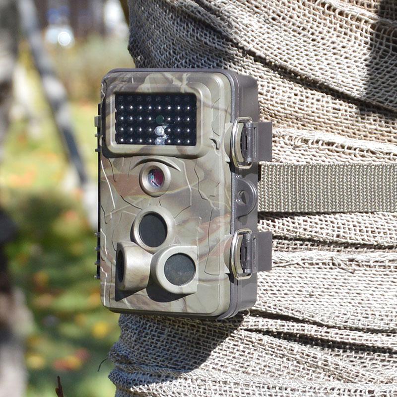 自動録画防犯カメラ RD1006AT 乾電池で最大6カ月使用できる、不可視赤外線LED42個搭載の自動撮影カメラ