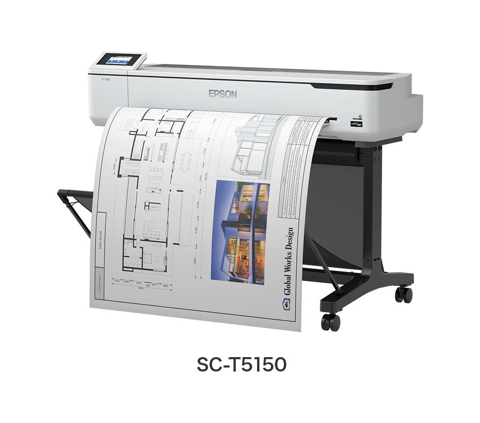 エントリーシリーズ A0プラス対応モデル 4色機 ポスター/POP/CAD 業務用大型プリンター EPSON SureColor SC-T5150