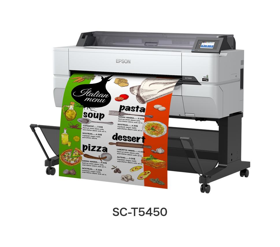 スタンダードシリーズ A0プラス対応モデル 4色機 ポスター/POP/CAD 業務用大型プリンター EPSON SureColor SC-T5450