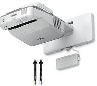 超短焦点 液晶プロジェクター EPSON EB-685WT 投写面に書き込みが可能。授業で活用できる電子黒板。