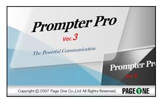 プロンプター編集ソフト ページワン Prompter Pro3.0