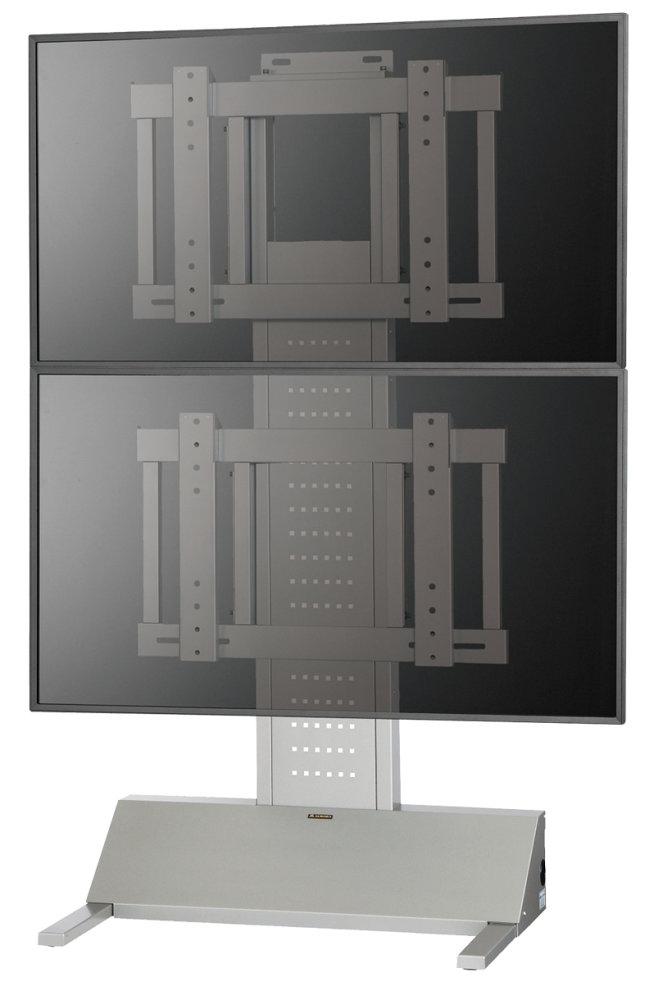 60インチディスプレイ対応縦2面マルチディスプレイスタンド 共栄商事(AURORA) FVS-W70TM 60インチクラスの大型用ディスプレイ対応 縦2面設置可能で背面にピッタリ寄せた省スペース設置を実現