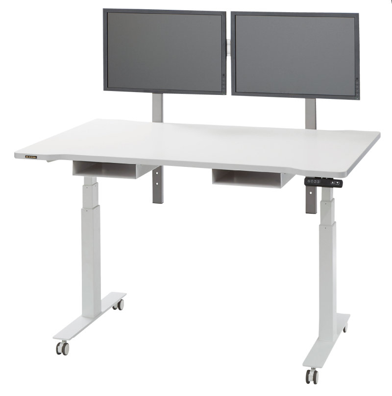 昇降も移動も自由自在! 機能満載な電動昇降テーブル 共栄商事(AURORA) URD-1400EM2