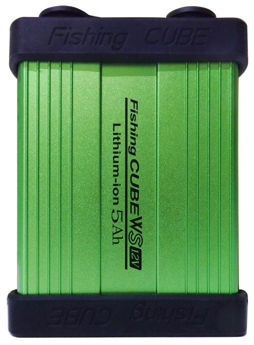 リチウムイオンバッテリー Fishing CUBE WS5Ah 釣り、携帯やスマホの充電、計画停電にも役立ちます。