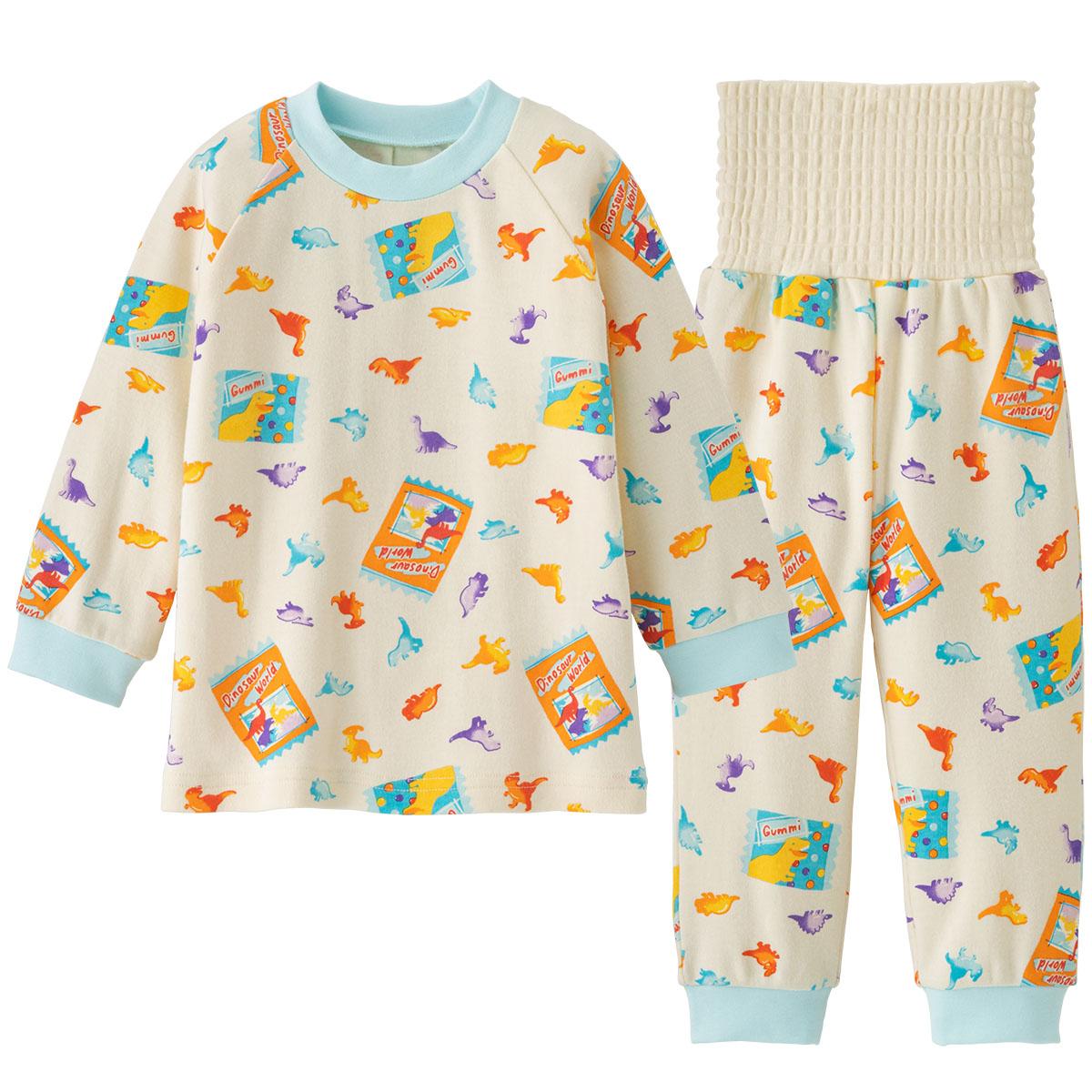 《コンビミニ》腹巻き付きパジャマ 恐竜グミ 新色追加 男の子 : 送料無料 激安 お買い得 キ゛フト