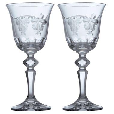 ボヘミアングラス バッカス ワイングラス2個セット
