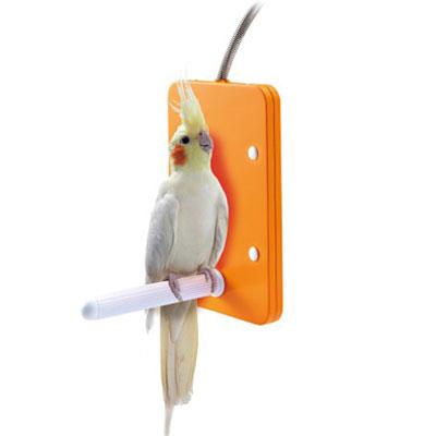 <BR>マルカン ほっととり暖 寄りそいヒーター L 【鳥用あったかグッズ】<BR>新発想!とまり木付き鳥用ヒーター!