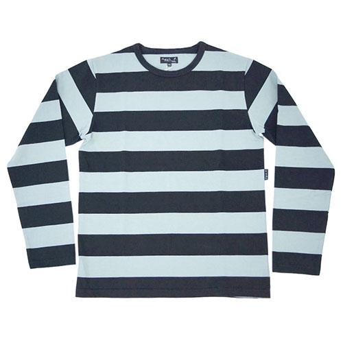 アニエスベー オム Tシャツ メンズ EK15-J919 Tシャツ agnes b HOMME メンズ 長袖 あす楽対応 丸首 ボーダー グレーxブラック サイズ2 あす楽対応, public:17533f87 --- officewill.xsrv.jp