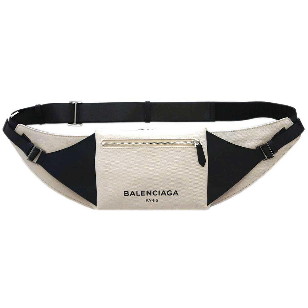 バレンシアガ バッグ 433625-KLXAN-9260 BALENCIAGA バレンシアガ メンズ ショルダー クロスボディバッグ キャンバス/レザー オフホワイト/ブラック