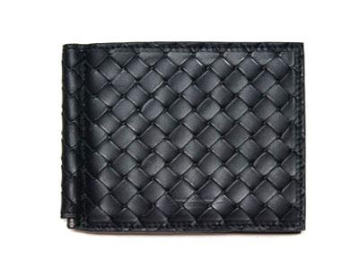 ボッテガヴェネタ 財布 123180-1000 メンズ マネークリップ イントレチャート ネロ ブラック