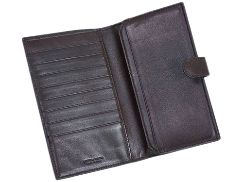 ボッテガヴェネタ 財布 132357-2040 ボッテガ 二つ折り ミディアム財布 イントレッチャート エバノ ダークブラウン アウトレット あす楽対応