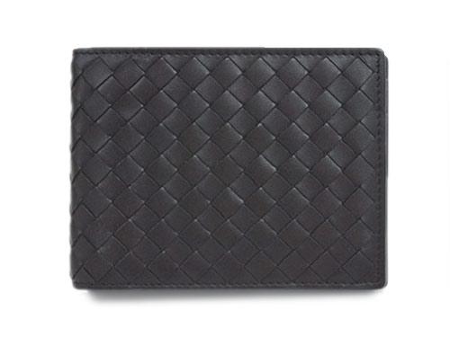 ボッテガヴェネタ 財布 148324-2040 ボッテガ メンズ 二つ折り 小銭入れ付き 横長 イントレッチャート VN エバノ ダークブラウン