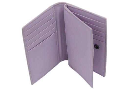 ボッテガヴェネタカードケース156823-5303二つ折りイントレッチャートナッパパルムライトパープルアウトレット