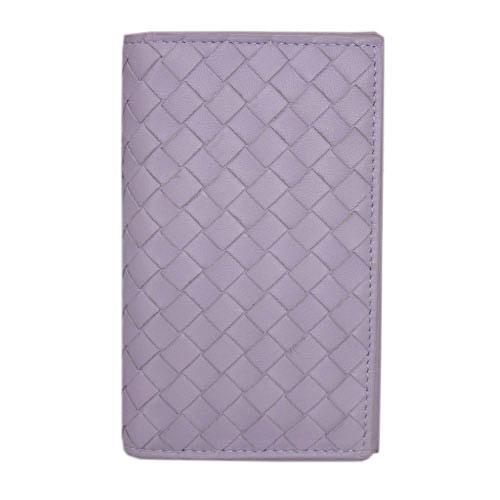 ボッテガヴェネタ カードケース 156823-5303 二つ折り イントレッチャート ナッパ パルム ライトパープル アウトレット