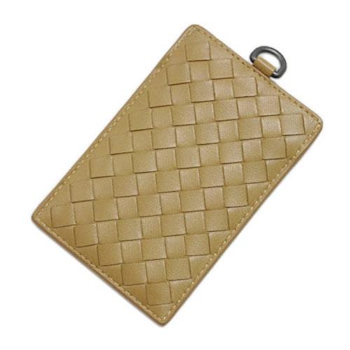 ボッテガヴェネタ カードケース 169722-2640 パスケース イントレッチャート ナッパ キャメル ブラウン