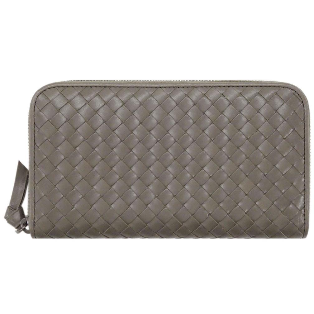 ボッテガヴェネタ 財布 132358-1300 ボッテガ ラウンドファスナー長財布 グレー わけあり