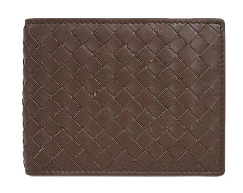 ボッテガヴェネタ 財布 148324-VQ131-2515 ボッテガ メンズ 二つ折り小銭入付 横長 イントレッチャート カーフ エドワルド アウトレット