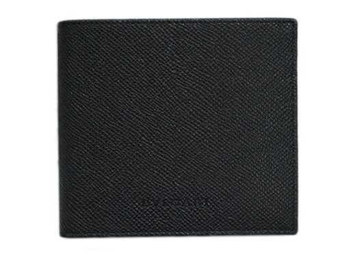 3efe3396ef55 ブルガリ 財布 20253 メンズ 二折り小銭付き財布 ロゴ グレインカーフ ブラック