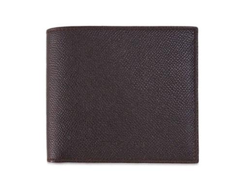 ブルガリ 財布 20815 メンズ二折り小銭付き財布 グレインレザー チョコレート あす楽対応