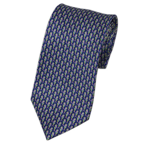 ブルガリ ネクタイ 240450 BVLGARI メンズ アニマルプリント オウム インクブルー/イエローグリーン /ローズ 紙袋付き