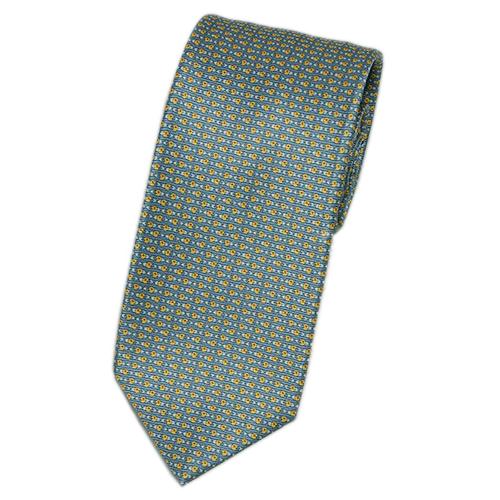 ブルガリ ネクタイ 240909 メンズ ロゴプリント ネイビー/レッド/スカイブルー 紙袋付き