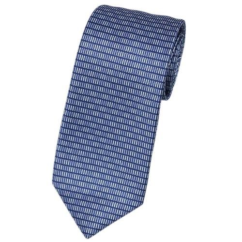 ブルガリ ネクタイ 241234 BVLGARI メンズ プリント デザイン ブルー・オルタンシャ/ブルーラベンダー/ホワイト 紙袋付き