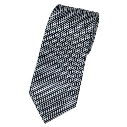 ブルガリ ネクタイ 241243 BVLGARI メンズ プリント デザイン ブラック/シルバーグレー/ベージュ 紙袋付き