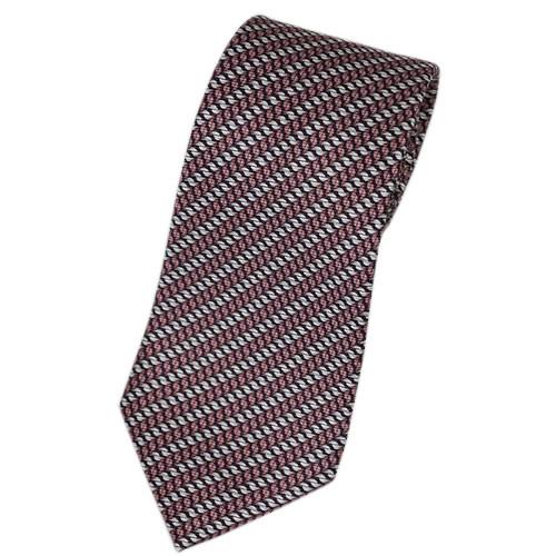 ブルガリ ネクタイ 241251 メンズ プリント デザイン ココアブラウン/ライトグレー 紙袋付き あす楽対応