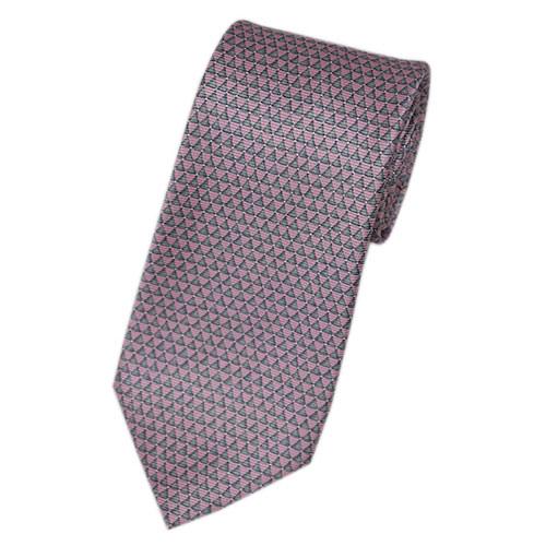 ブルガリ ネクタイ 241254 メンズ プリント デザイン ピンク/グレー 紙袋付き