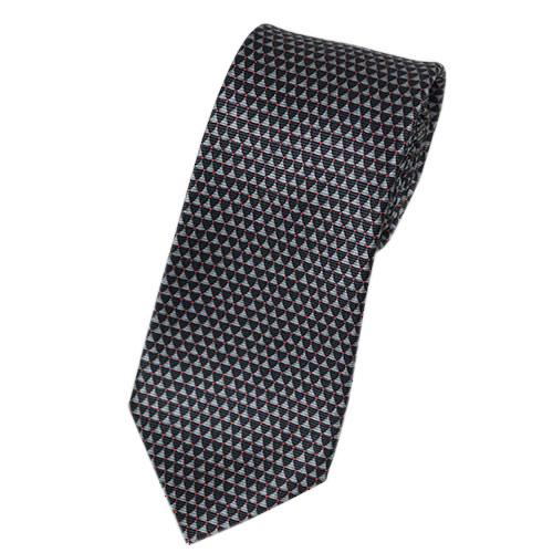 ブルガリ ネクタイ 241255 メンズ プリント デザイン ピンク/グレー 紙袋付き