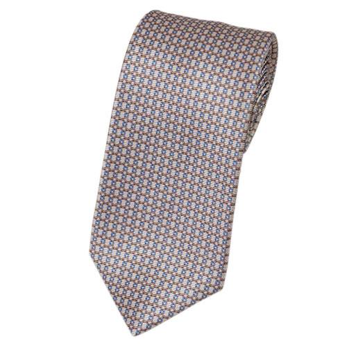 ブルガリ ネクタイ 241533 BVLGARI メンズ プリント デザイン ピンクベージュ/ベージュ/ブルー 紙袋付き