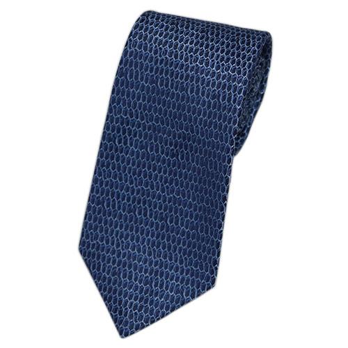 ブルガリ ネクタイ 241570 BVLGARI メンズ ジャガード デザイン ネイビー/ウルトラマリンブルー/ライトブルー 紙袋付き