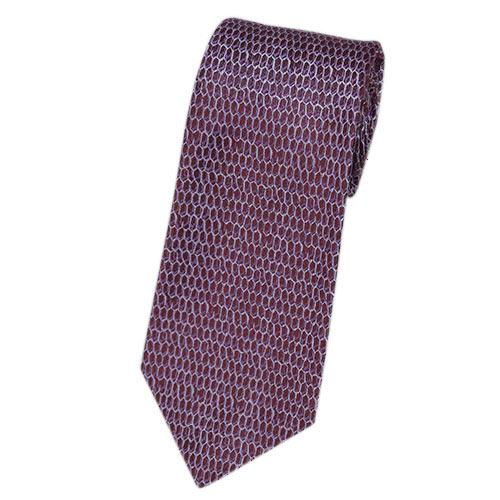 ブルガリ ネクタイ 241571 メンズ ジャガード デザイン バーガンディー/ライトパープル 紙袋付き