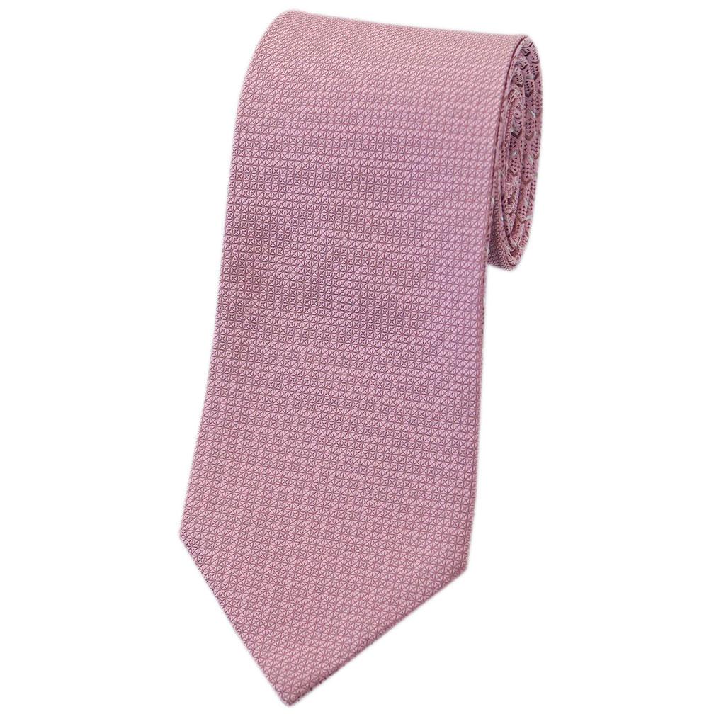 ブルガリ ネクタイ 242604 BVLGARI メンズ ジャガード デザイン リバーシブル ピンク/ベージュ/シルバーグレー  紙袋付き あす楽対応