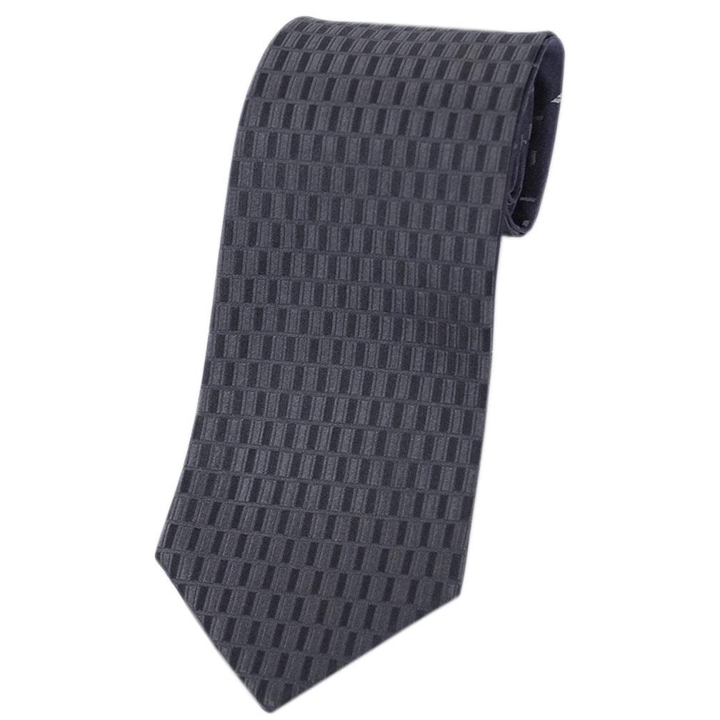 ブルガリ ネクタイ 242871 BVLGARI メンズ ジャガード デザイン リバーシブル アントラシット/ブラック/ネイビー 紙袋付き あす楽対応