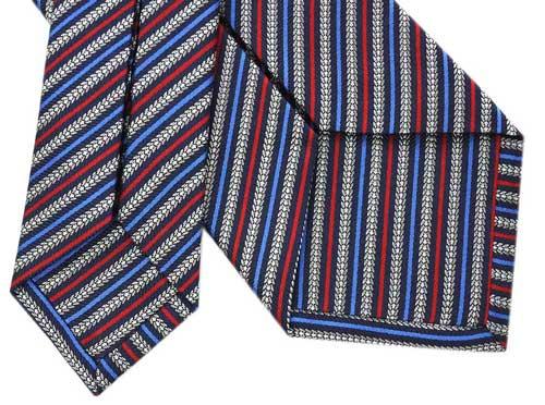 300円OFFクーポンブルガリ ネクタイ 243407 BVLGARI メンズ ジャカード デザイン ストライプ SAND SNAKE ネイビー 紙袋付きUMGLqzSVp