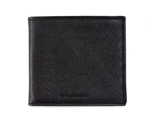 ブルガリ 財布 37286 メンズ 二折り小銭付き財布 ロゴ シャイニーカーフ ブラック あす楽対応